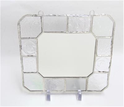 ステンドグラス ミラー 鏡 クリアガラス
