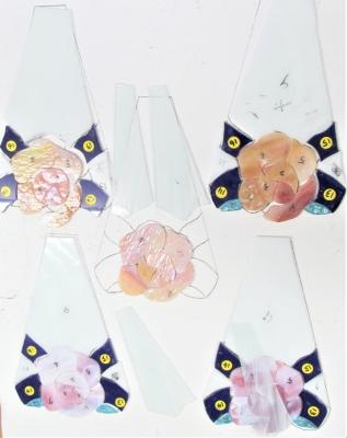 ステンドグラスランプ バラ 薔薇