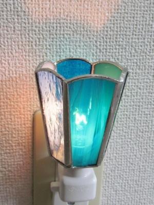 ステンドグラス フットランプ 六面体 体験教室東京