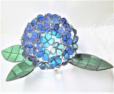 ステンドグラス 紫陽花ランプ アジサイ
