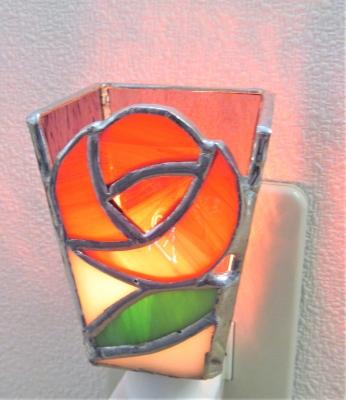 ステンドグラス薔薇 バラフットライト