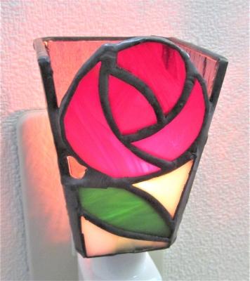 ステンドグラス バラ 薔薇の花 フットランプ