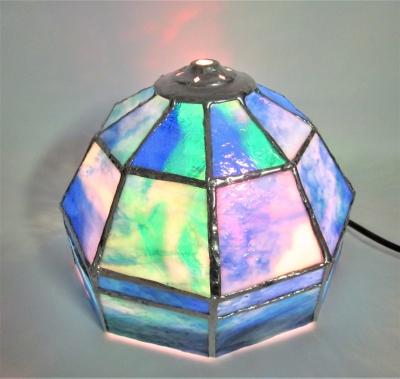 ステンドグラス ランプ 多面体