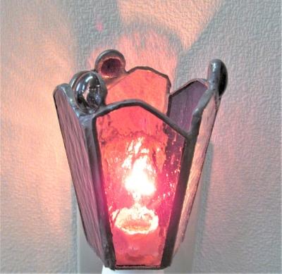 ステンドグラスランプ 足下ランプ