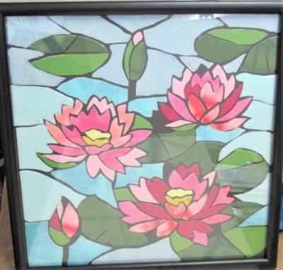 ステンドグラス 和紙 貼り絵
