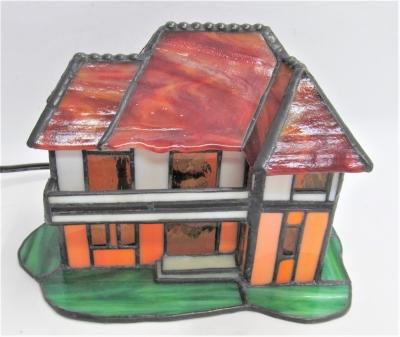 ステンドグラス ハウスランプ 家