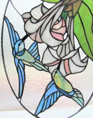 ステンドグラス 蜂鳥