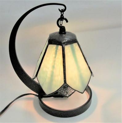 ステンドグラス ランプ 2重リリー