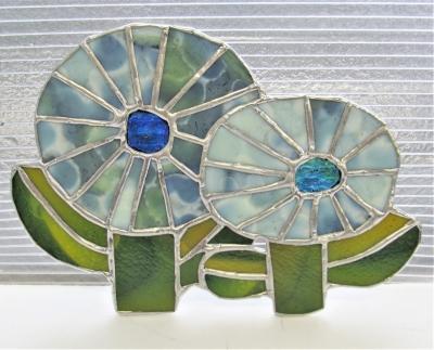 ステンドグラス 花 モザイク