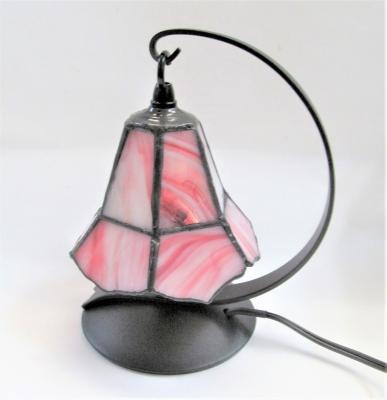 ステンドグラスランプ ピンク リリー