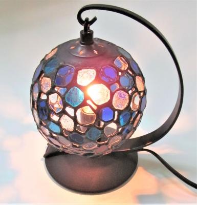 ステンドグラスランプ 球体