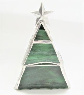 ステンドグラス クリスマスツリー キャンドルホルダー
