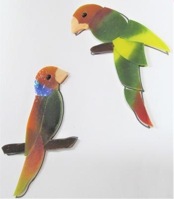 ステンドグラス 鳥 鳥かご