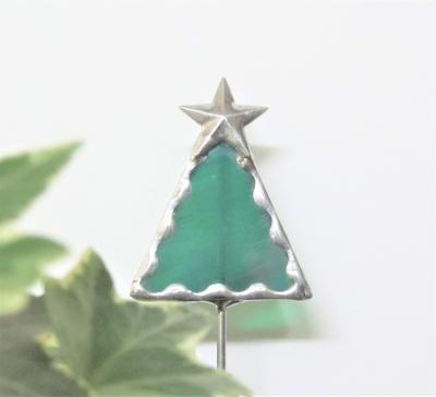 ステンドグラスクリスマスツリー ガーデンピック