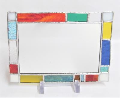 ステンドグラス 鏡