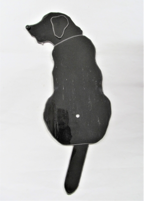 ステンドグラス 犬 時計 ラブラドール