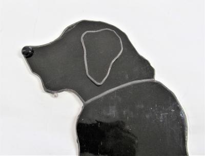 犬時計 ステンドグラス レトリバー