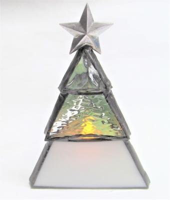 ステンドグラス 星 クリスマスツリー