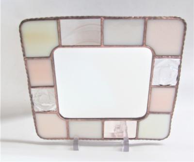 ステンドグラス 鏡 ミラー バラ