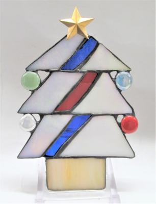 ステンドグラス クリスマスツリー 星