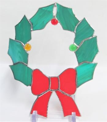 ステンドグラス体験 クリスマスリース