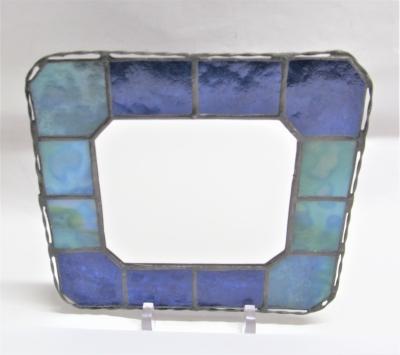 ステンドグラス 鏡 青