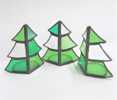 ステンドグラス キャンドルホルダー クリスマスツリー