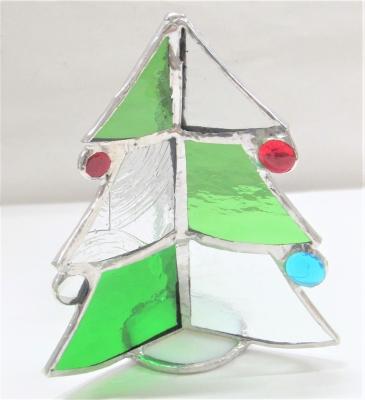 ステンドグラスクリスマスツリー