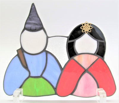 ステンドグラス おひな様 雛人形 ランプ