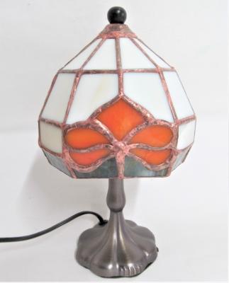 ステンドグラスランプ ユリ紋オーダー
