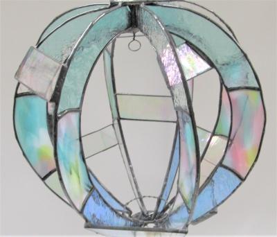 ステンドグラス 気球 ゴンドラ