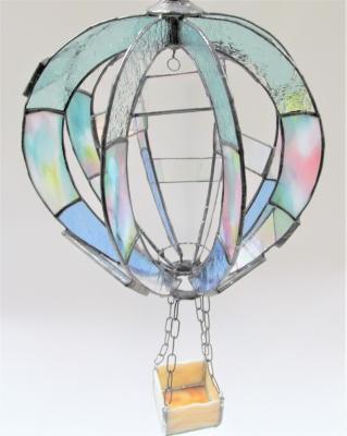 ステンドグラス 気球 鉢カバー