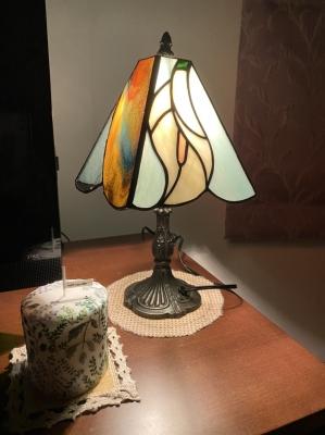 ステンドグラスランプ カラー 花