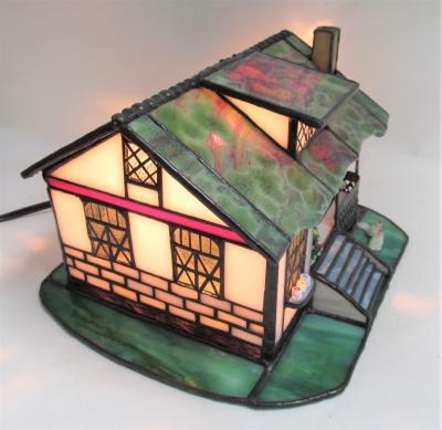 ステンドグラス 家 ランプ ハウス