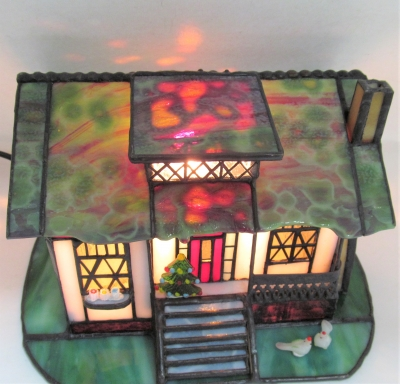 ステンドグラス クリスマスツリー ハウスランプ