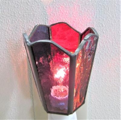 ステンドグラス体験 ランプ