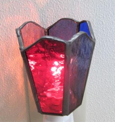 ステンドグラス体験 足元ランプ