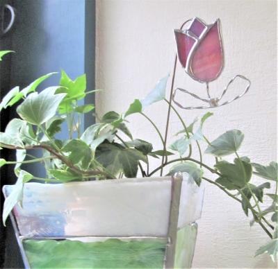 ステンドグラス ガーデンピック チューリップ