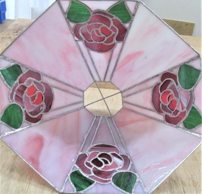 ステンドグラスランプ 薔薇 バラ