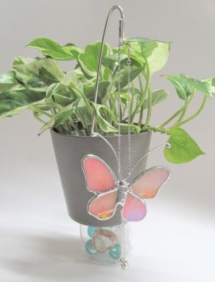 ステンドグラス 蝶々のガーデンピック