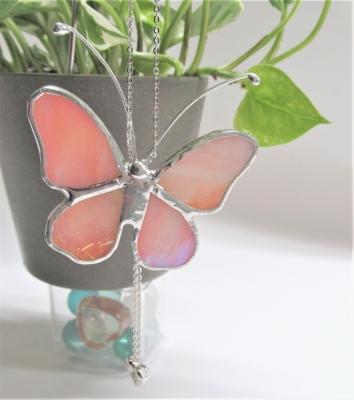 ステンドグラス 蝶々 ガーデンピック