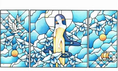 ステンドグラス ギリシャ神話