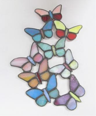 ステンドグラス 蝶々 サンキャッチャー
