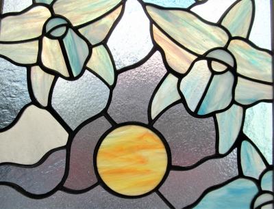 ステンドグラス ギリシャ神話 白鳥