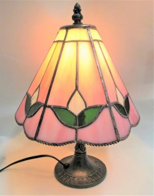 ステンドグラス ランプ ピンク