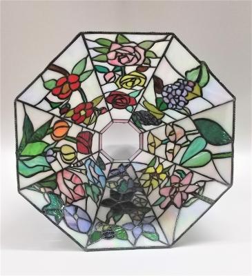 ステンドグラス ペンダントランプ 四季の花
