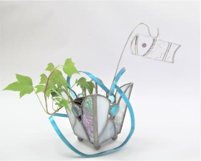 ステンドグラス ガーデンピック 鯉のぼり