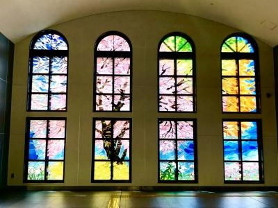 ステンドグラス 桜 坂戸駅