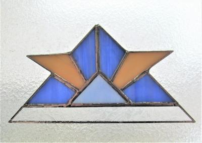ステンドグラス兜 折り紙デザイン