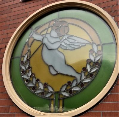 天使 ステンドグラス窓